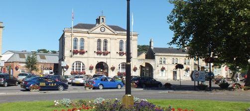 Melksham Town Hall in Summer
