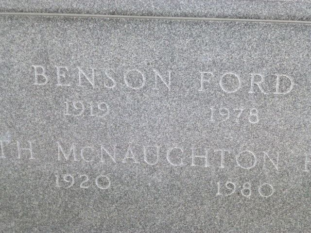 Benson Ford, Sr - One of the 1950s Ford Motor Co. directors and vice-presidents, he ran the Mercury Div. 1948-56, then took charge of Lincoln-Mercury dealer relations. He died an alcoholic.