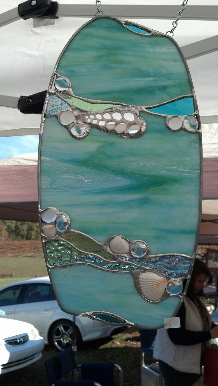 Seashell stained glass window by Kelly.