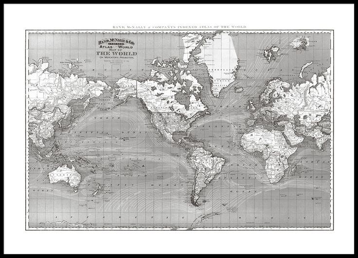 18 best world map prints images on pinterest gold print new poster with world map beautiful poster with black and white world map sized looks good in a black wooden frame we print our posters on matte uncoated sciox Gallery