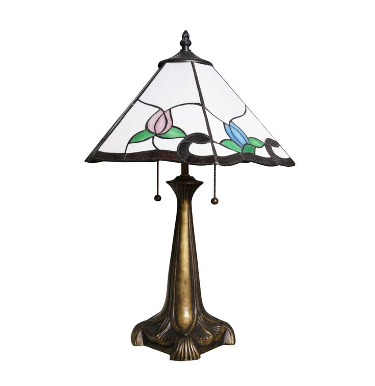 Tiffany Style Stained Glass Table Lamp : EBTH