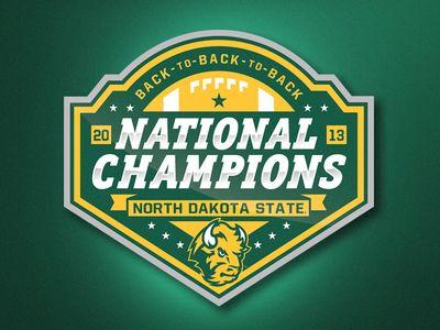 Национальный Чемпионат NDSU Футбол Логотип