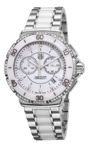 38% Off was $2,900.00, now is $1,795.00! TAG Heuer Women`s CAH1213.BA0863 Formula One White Diamond Chronograph Watch