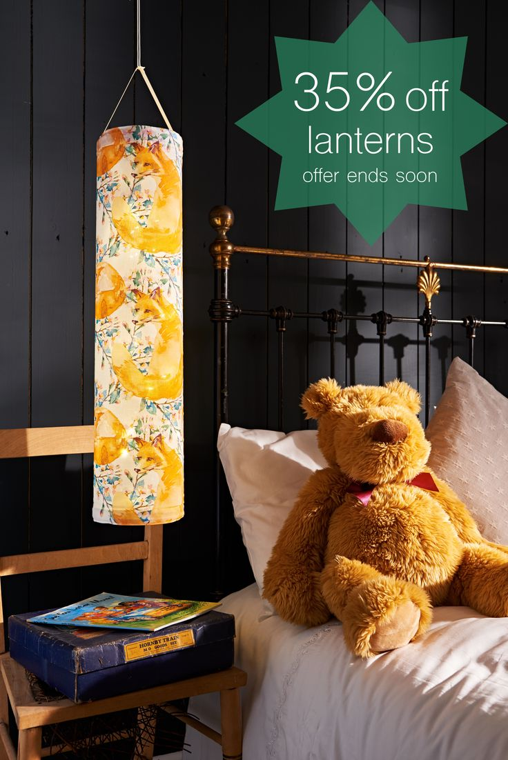 Looking for the perfect gift? We're launching our BEST offer yet with 35% off ALL lanterns! Our beautiful fabric lanterns are hand-made in Britain using 100% cotton and create the most magical lighting experience. And since they are powered by batteries they can be hung anywhere to add a cosy glowing touch to any room. And since they are safe to leave on all night, they make great night lights!