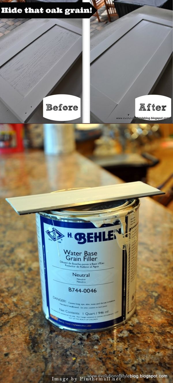 Wood Grain Filler   Use Before Painting Oak Cabinets. Evolution Of Style:  Say Goodbye To Oak Grain Behlen Water Base Grain Filler