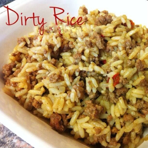 Southern Style Dirty Rice  Ingredients : 1 lb. ground meat 3 cups uncooked long grain white rice(used uncle ben's) 4 tbsp. Creole Seasoning...