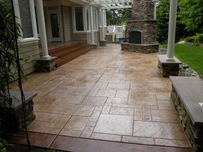 17 best images about stamped concrete on pinterest for Cleaning colored concrete