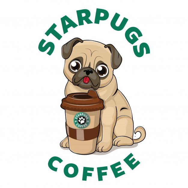 Cute Pug With Coffee Cup In 2020 Cute Pugs Pug Wallpaper Baby Pugs