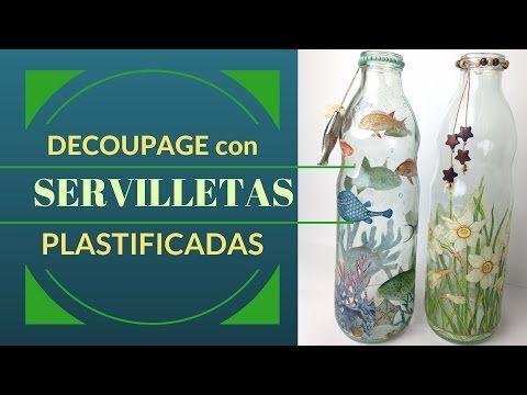 Decoupage con servilletas plastificadas | Manualidades