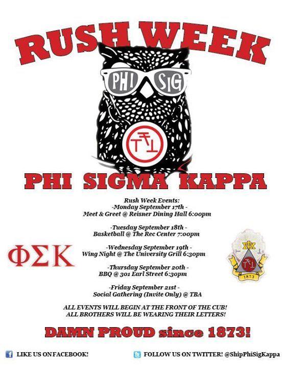 Phi Sigma Kappa Rush Week