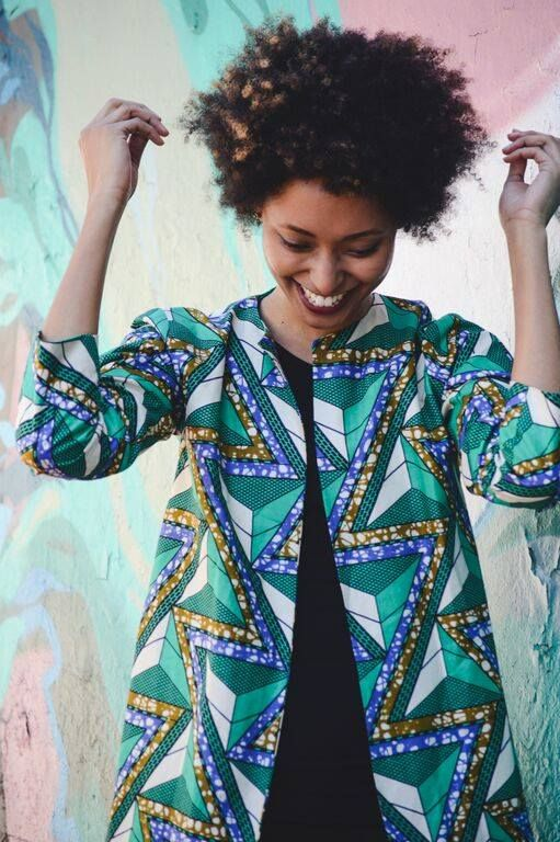 Aya Goods beautifully tailored pieces use only fabrics sourced in Africa and are made locally in South Africa