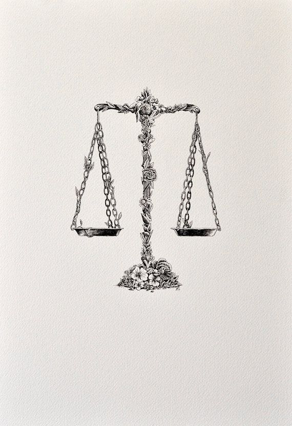 libra archival print i seriously want an old school scale tattoo with romantic features. Black Bedroom Furniture Sets. Home Design Ideas