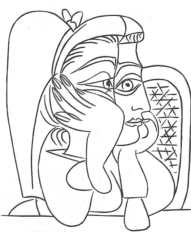 Picasso coloriage artiste pinterest - Coloriage matisse ...