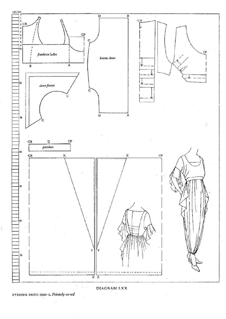 interesting site with an album of dress diagrams from teens  20 u0026 39 s