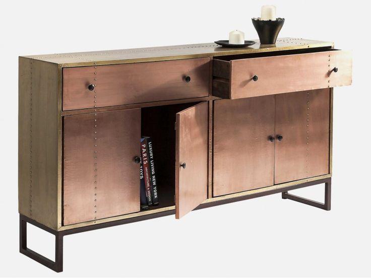 Komoda Rivet Copper — Komody Kare Design — sfmeble.pl
