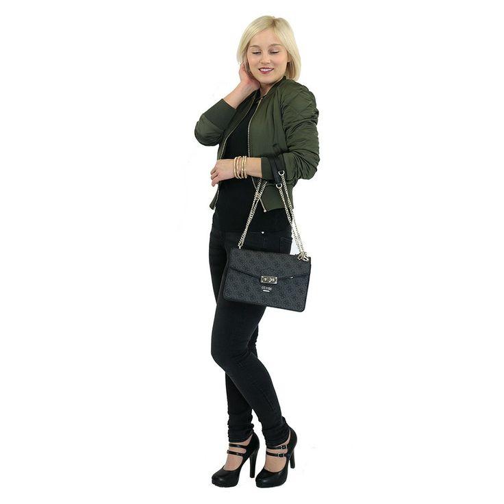 Kabelka HWSG6491210 Guess, černá | Delmas.cz - kabelky, peněženky, pánské tašky, cestovní zavazadla