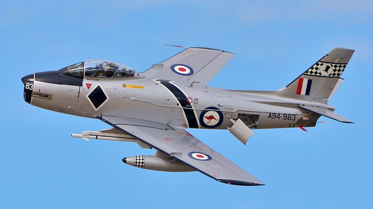 CAC Sabre A94-983 belonging to RAAF Museum, restored and operated by Temora Aviation Museum.