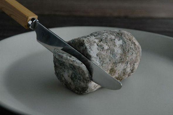 Unusual sculpture of stone