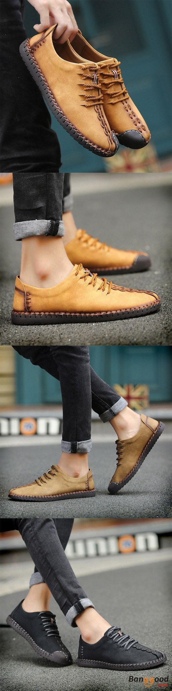 US$37.12+Free shipping. Men Shoes, Oxfords Shoes. Hand Stitching, Soft, Sole, Casual, Lace Up. Color: Black, Yellow, Khaki. Show your fashion style, shop now~