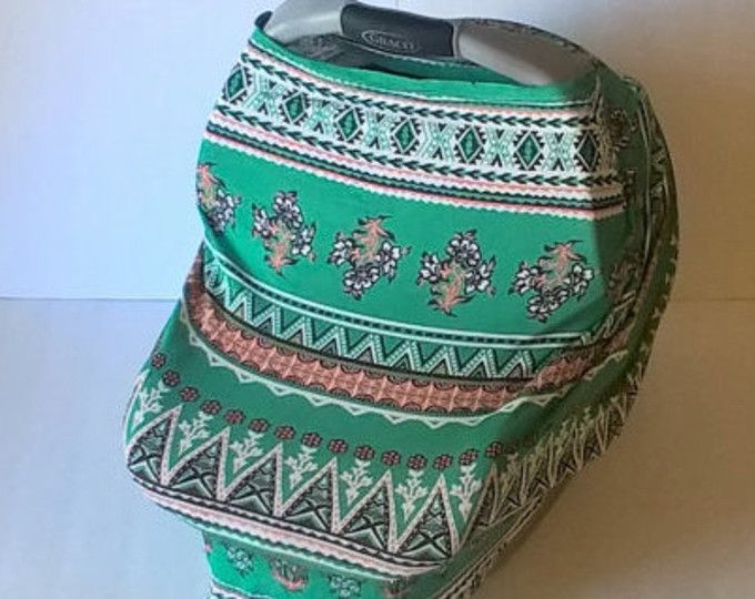 Teal Ethnic Stretchy Car Seat Cover / Car Seat Cover / Carseat Cover / Car  Seat
