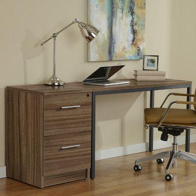 jesper office parsons desk with file cabinet u0026 reviews wayfair