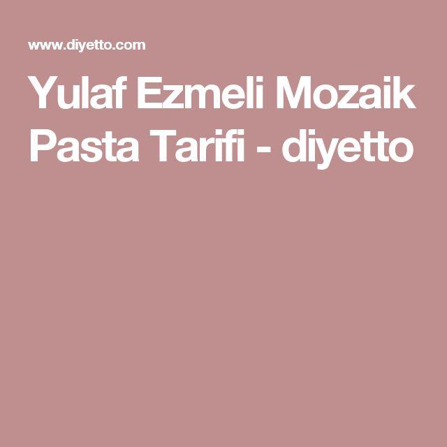 Yulaf Ezmeli Mozaik Pasta Tarifi - diyetto