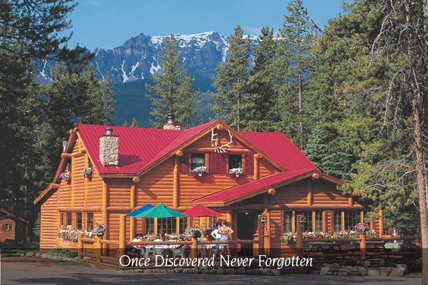 Baker Creek Chalets and Cabins in Lake Louise, Banff National Park, Alberta, Canada.