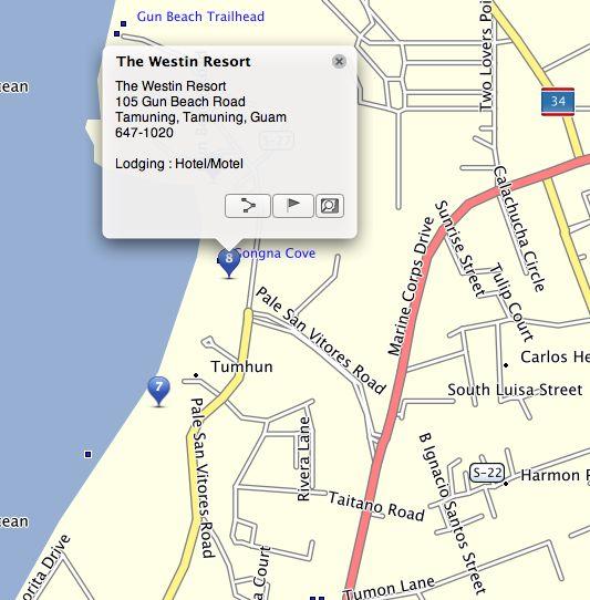 westin guam resort directions guam gps map garmin http www gpsetravelguides