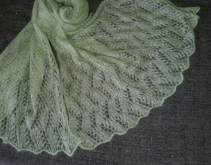 Scarf. Mochair with silk