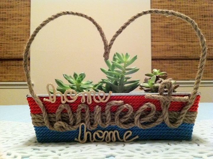 """Succulent planter. Cause it's not really """"Home Sweet Home"""" unless it says it somewhere in your house. :p"""