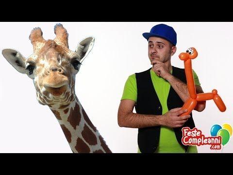 palloncino giraffa, balloon Giraffe with ballon art. Come fare una giraffa con i palloncini modellabili Feste per bambini, animazione per bambini, giochi per bambini.  Animali con i Palloncini - la Giraffa - Creiamo con i palloncini modellabili una simpaticissima giraffa. E' molto semplice da realizzare, necessita di un solo palloncino e di pochissime torsioni. Ideale per le feste di compleanno.