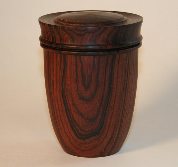 Tall Cocobolo turned box