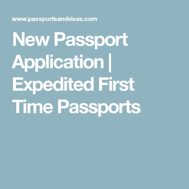 New Passport Application | Expedited First Time Passports