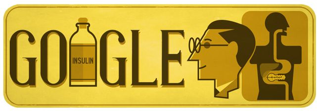 Canadian Medical Scientist Sir Frederick Banting's 125th birthday! #GoogleDoodle #Insulin #worlddiabetesday 😷🏥💊