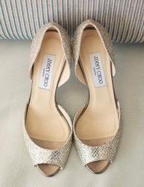 Silver Sparkly Wedding Shoes ♥ Jimmy Choo Bridal Shoes Collection | Gümüş Rengi Parlak Abiye Ayakkabılar