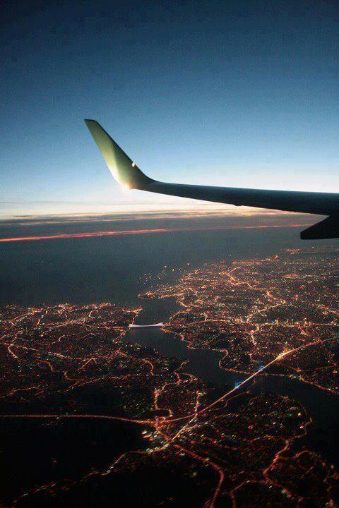 both Bosporus bridges as seen from a plane