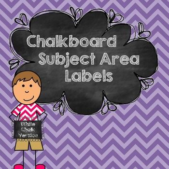 """Chalkboard Daily Objective Subject Area Labels - Freebie....Follow for Free """"too-neat-not-to-keep"""" teaching tools & other fun stuff :)"""