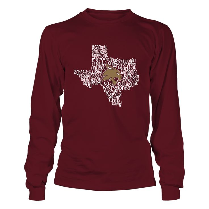 Texas State Bobcats - Fight Song Inside State Map T-Shirt, Special Offer, not available in shops! Comes in a variety of styles and colors Buy yours now before it is too late! Secured payment via Visa / Mastercard / Amex  The Texas State Bobcats Collection, OFFICIAL MERCHANDISE  Available Products:          Gildan Long-Sleeve T-Shirt - $33.95 Gildan Unisex Pullover Hoodie - $49.95 Gildan Fleece Crew - $39.95 District Women's Premium T-Shirt - $29.95 District Men's Premium T-Shirt - $27.95…