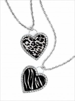 ShopStyle: Sequin Animal-print heart necklace
