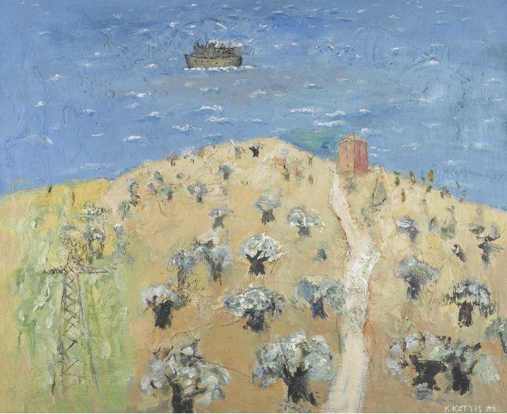 Yannis Kottis (b. 1949) Landscape With Olive Trees, 2006