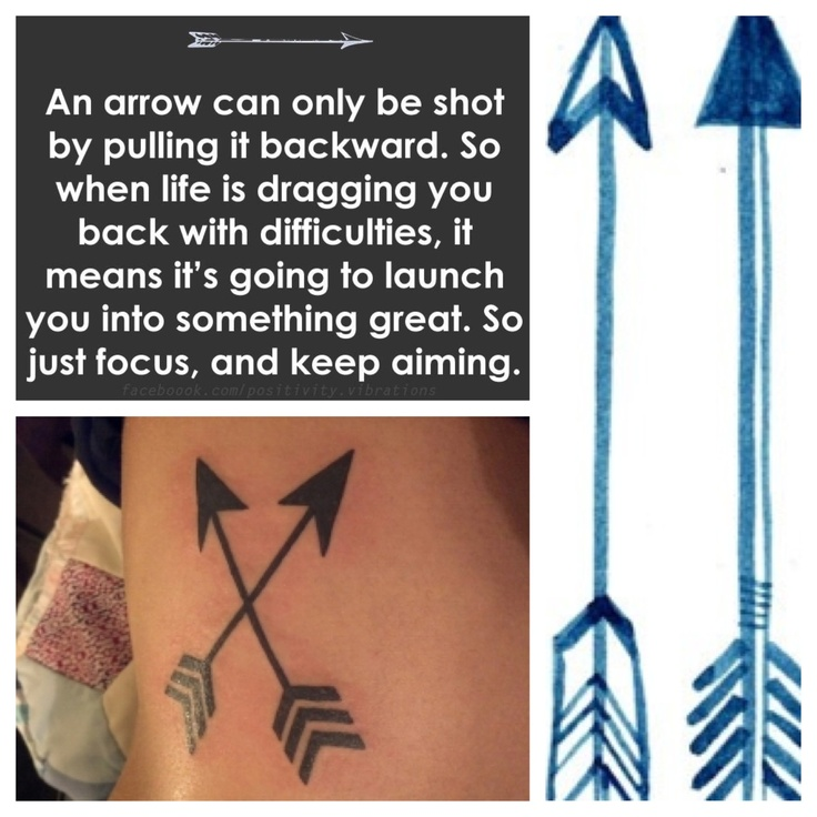 My 3rd tattoo!! Arrows tattoo. ❤  Cute, meaningful, motivational, and encouraging.  Never give up. Keep fighting!  It'll all be worth it in the end. ❤