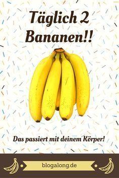 Iss täglich 2 Bananen! Du wirst überrascht sein, was das mit deinem Körper macht! #diät #abnehmen #gesund