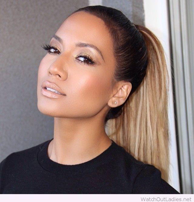 JL bronzed makeup