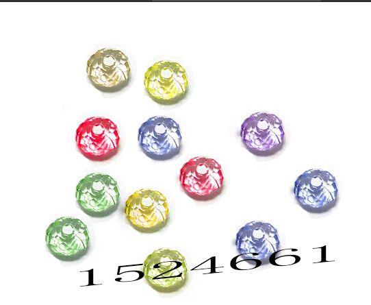 6mm 100 unids/lote Colores Granos de Acrílico para La Joyería de DIY * artesanía materiales de plástico alfabeto plástico bubblegum chunky forma redonda