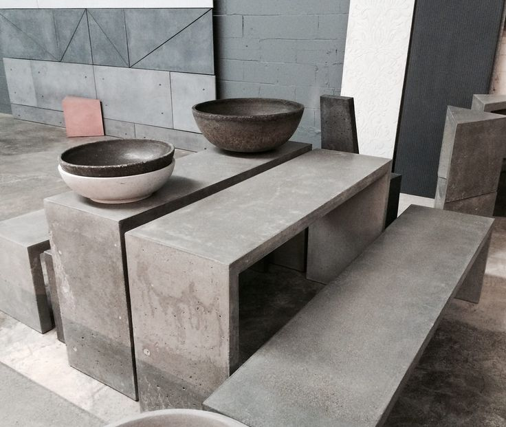17 best ideas about concrete furniture on pinterest cement table concrete table top and Concrete and wood furniture