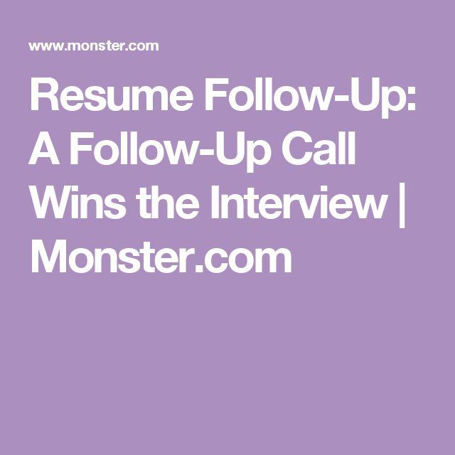 Best 20+ Monster careers ideas on Pinterest Spooky treats - follow up after sending resume