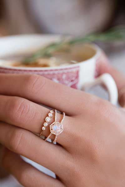 Opal Engagement Ring. Boho Chic wedding and engagement rings.