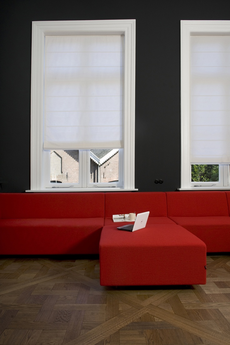 White Roman Blinds made from a beautiful durable fabric - 3872