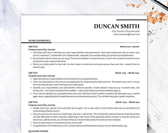 Executive Resume Template Ats Friendly Resume With Icons Etsy In 2020 Executive Resume Template Resume Template Cover Letter Template