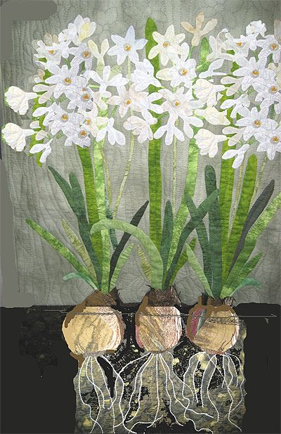 I love Hyacinths and this quilt captures them beautifully! (Martha Nordstrand)